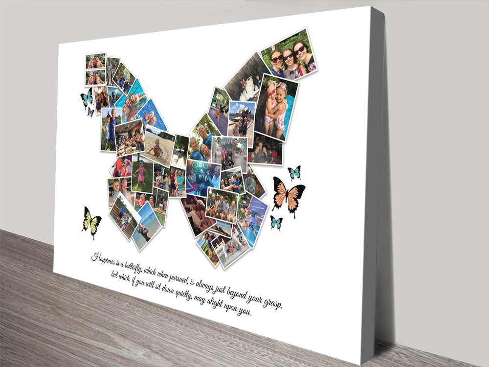Peronalised Butterfly Collage Home Decor AU