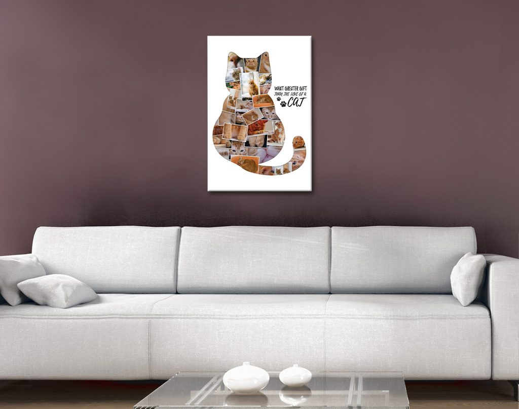 Ready to Hang Custom Cat Photo Collage