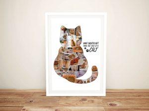 Personalised Animal Shape Photo Collage