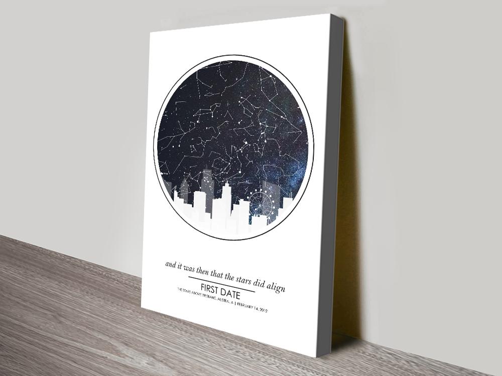 City Skyline Star Map Unique Home Decor AU