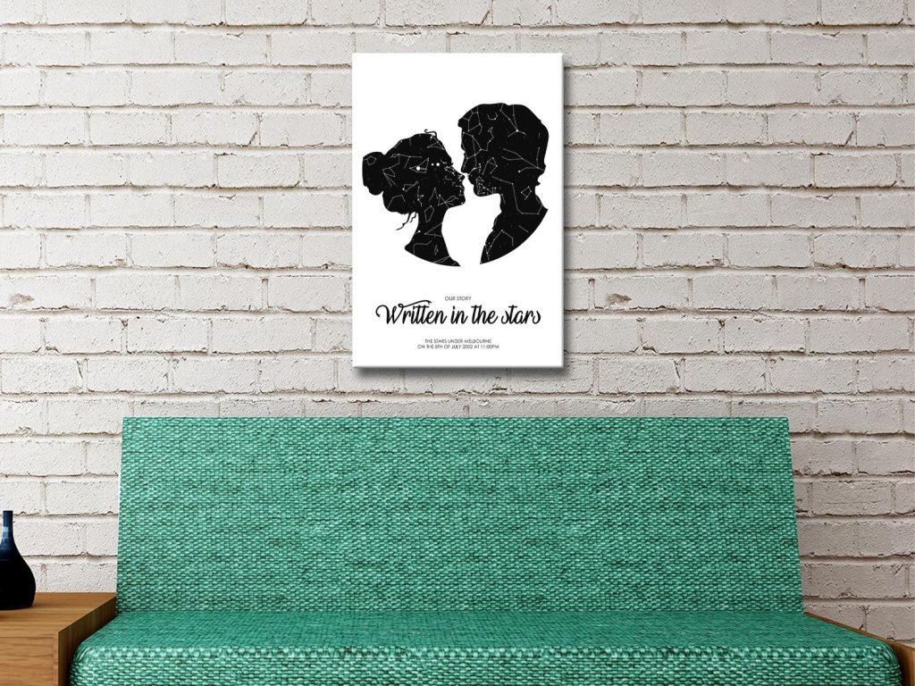 Custom Star Map Valentines Gift Ideas AU