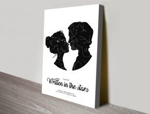 Couple Star Chart Wall Art on Canvas