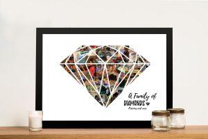 Buy a Diamond Shape Photo Collage Print