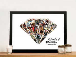 Buy a Diamond Shape Photo Collage Print