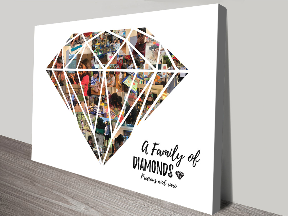 Diamond Collage Art Gifts for Newlyweds AU