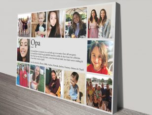 Stretched Canvas Dictionary Meaning Photo Collage