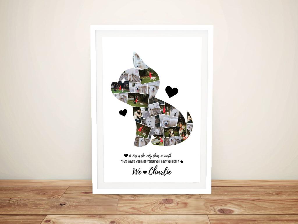 Framed Custom Puppy Collage Kids Art Online
