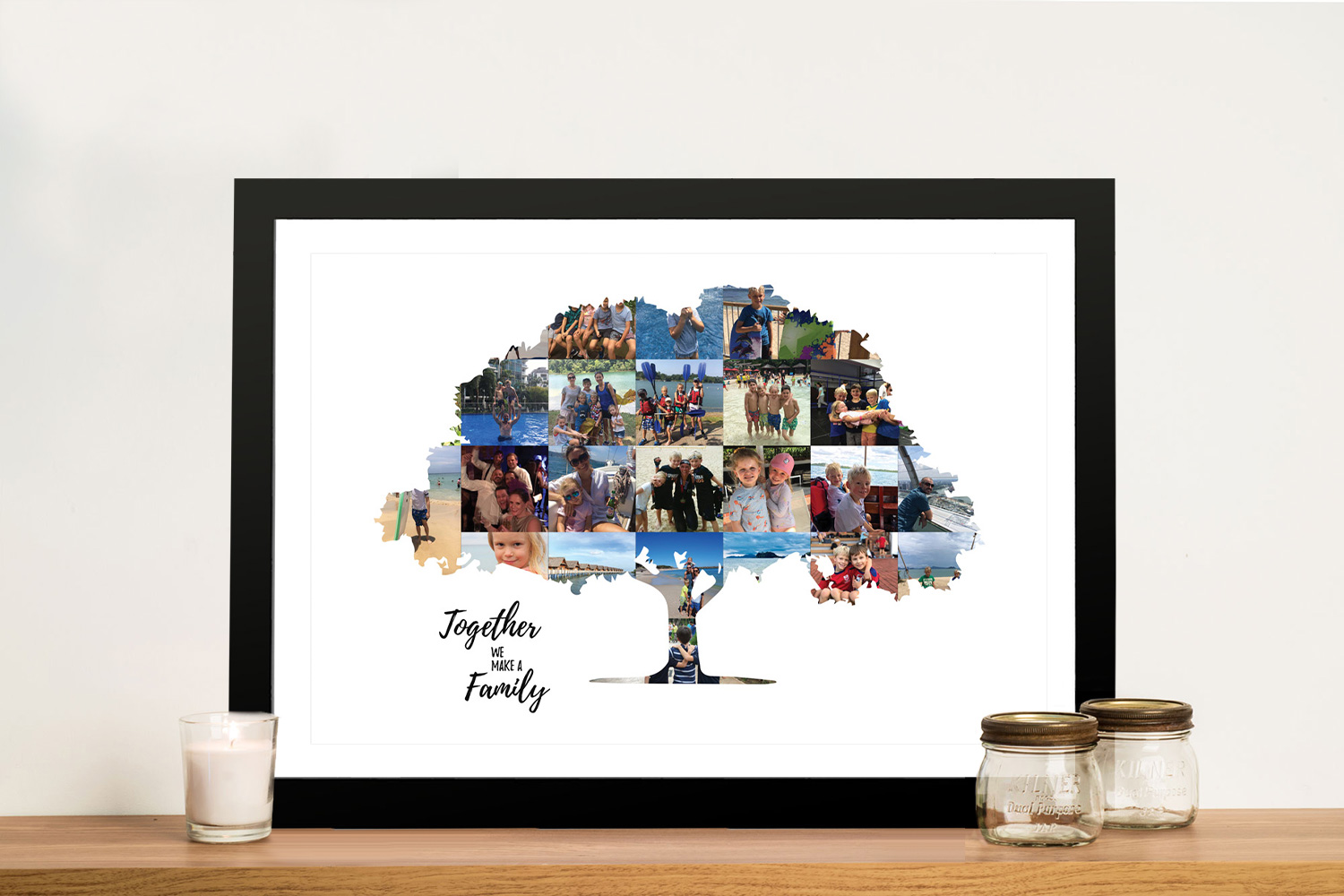 Family Tree Personalised Photo Collage | Custom Family Tree Photo Collage