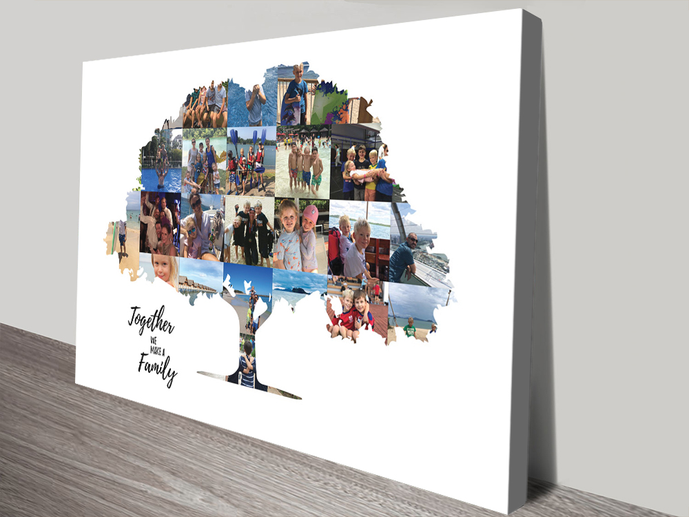 Get a Family Tree Custom Collage Cheap Online