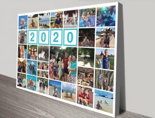 My Family Personalised Photo Collage Wall Art