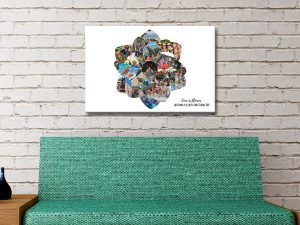 Ready to Hang Flower Shape Collage Online
