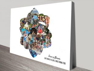 Personalised Flower Shape Photo Collage