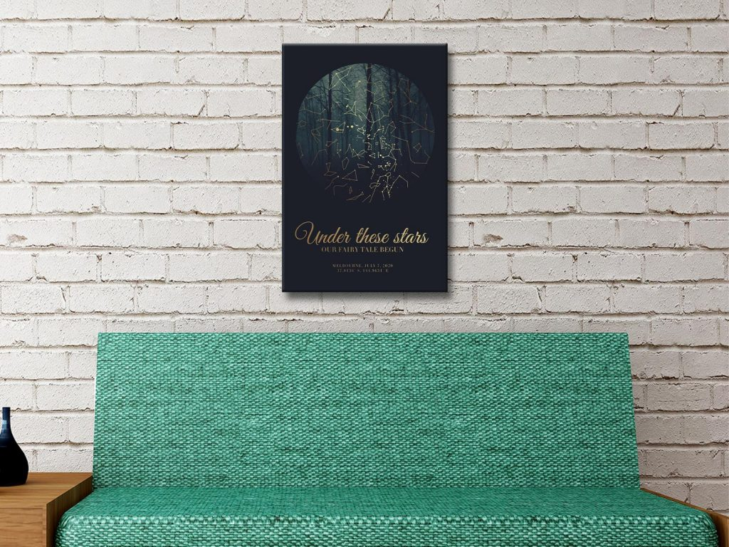 Ready to Hang Fairy Tale Forest Custom Star Map