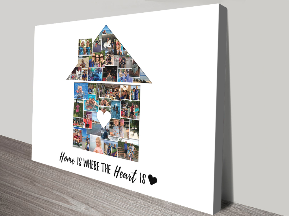 New Home Photo Collage Canvas Wall Art