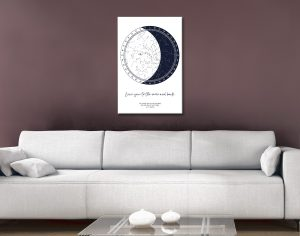 Custom Star Charts for Sale in our Online Gallery