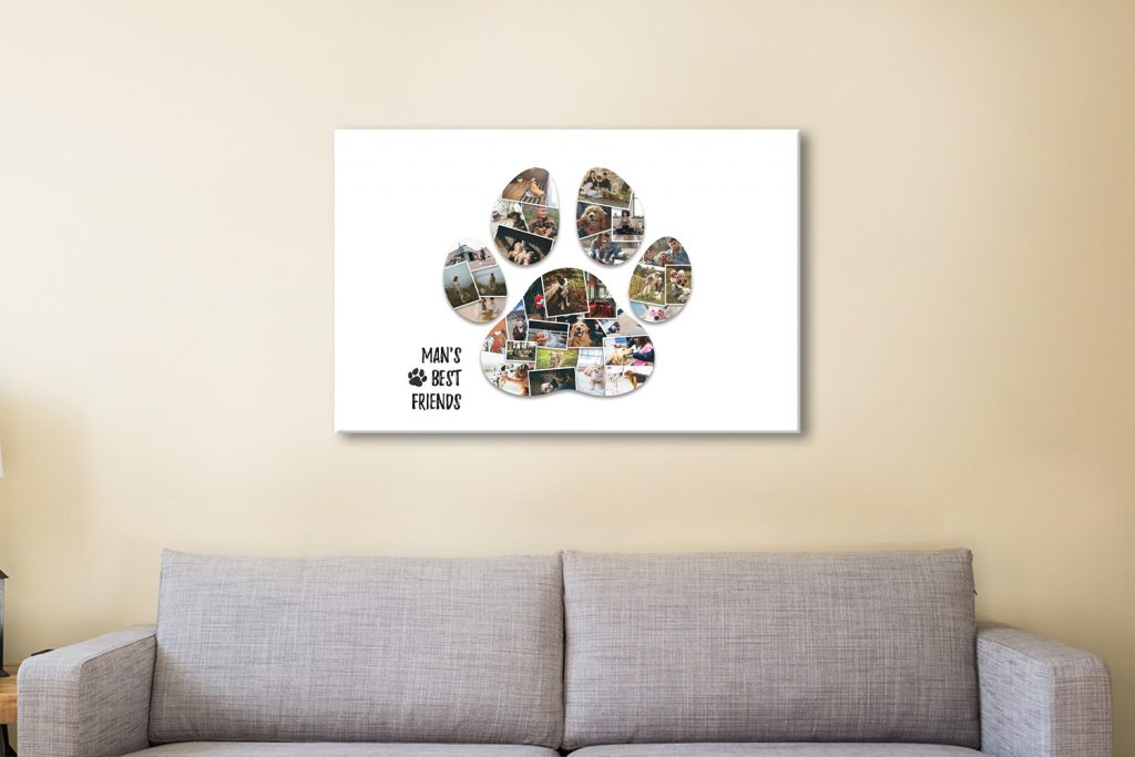 Ready to Hang Custom Paw Photo Collage