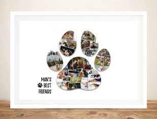 Paw Print Photo Collage Print on Canvas