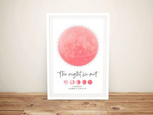 Phases of the Moon Personalised Star Map