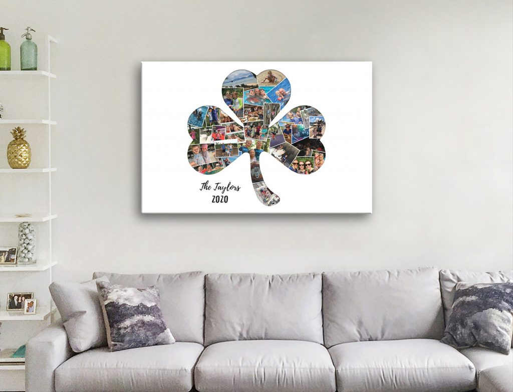 Affordable Shamrock Collage Ready to Hang