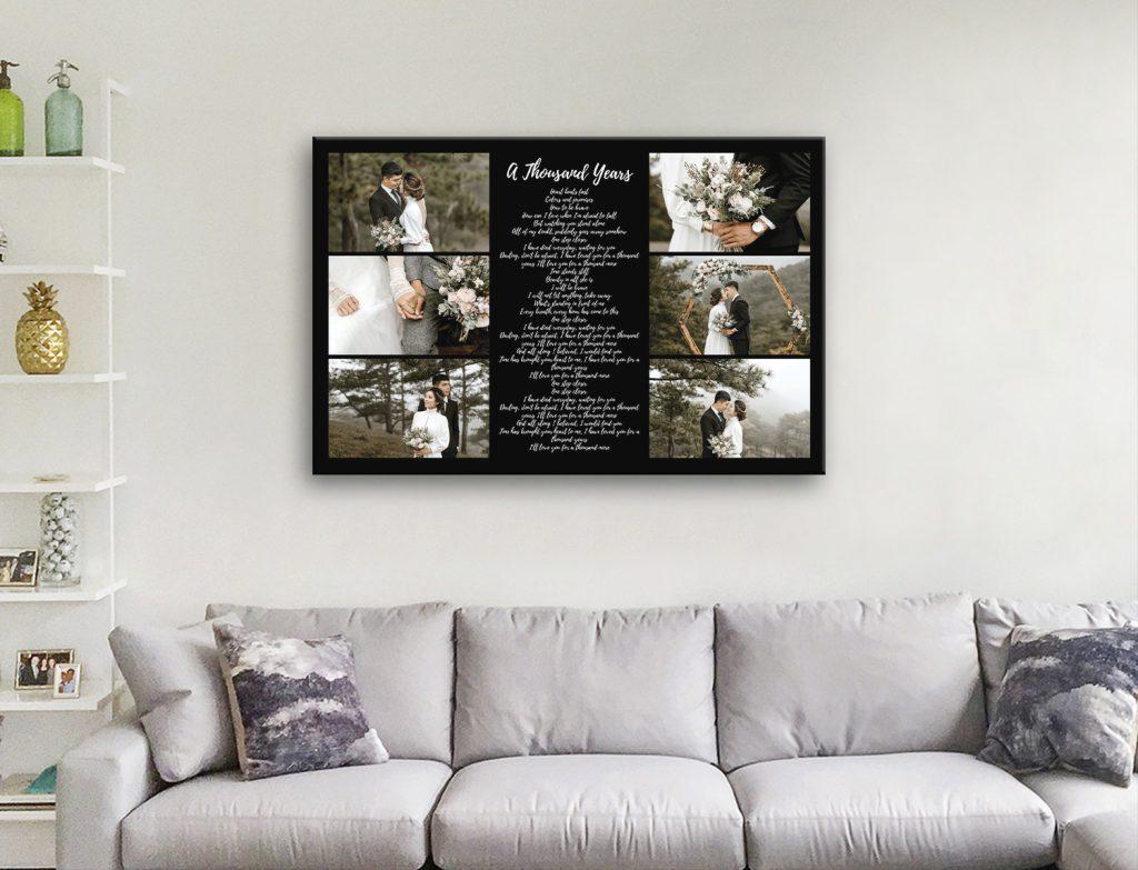 Large Ready to Hang Song Lyrics Custom Collage