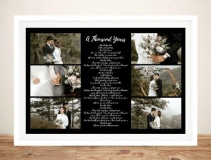 Buy a Large Song Lyrics Canvas Photo Collage