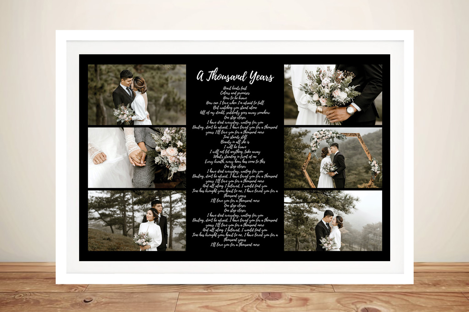 Buy a Large Song Lyrics Canvas Photo Collage | Song Lyrics Photo Collage