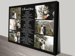 Song Lyrics Collage Affordable Wedding Gifts AU