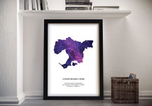 Buy a Framed World Cities Star Map Print