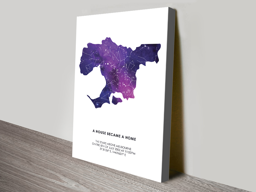 City Silhouette Star Map Moving in Gifts Online