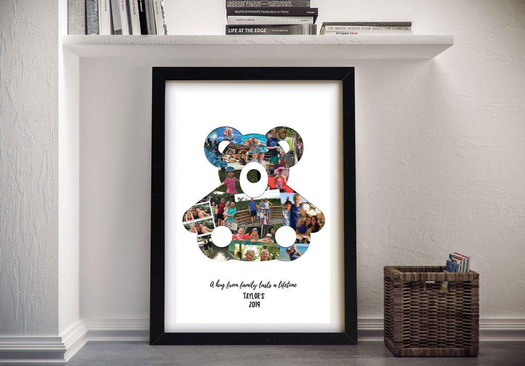 Teddy Bear Framed Photo Collage for Sale
