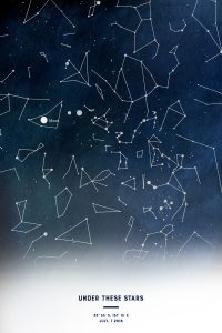 Personalised Watercolour Night Sky Map Art