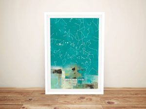 Framed Abstract Design Star Map Gift Ideas AU