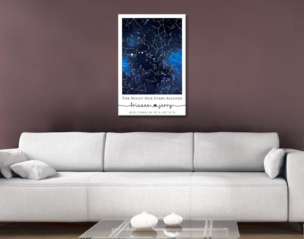 Blue Galaxy Star Map Affordable Wedding Gifts