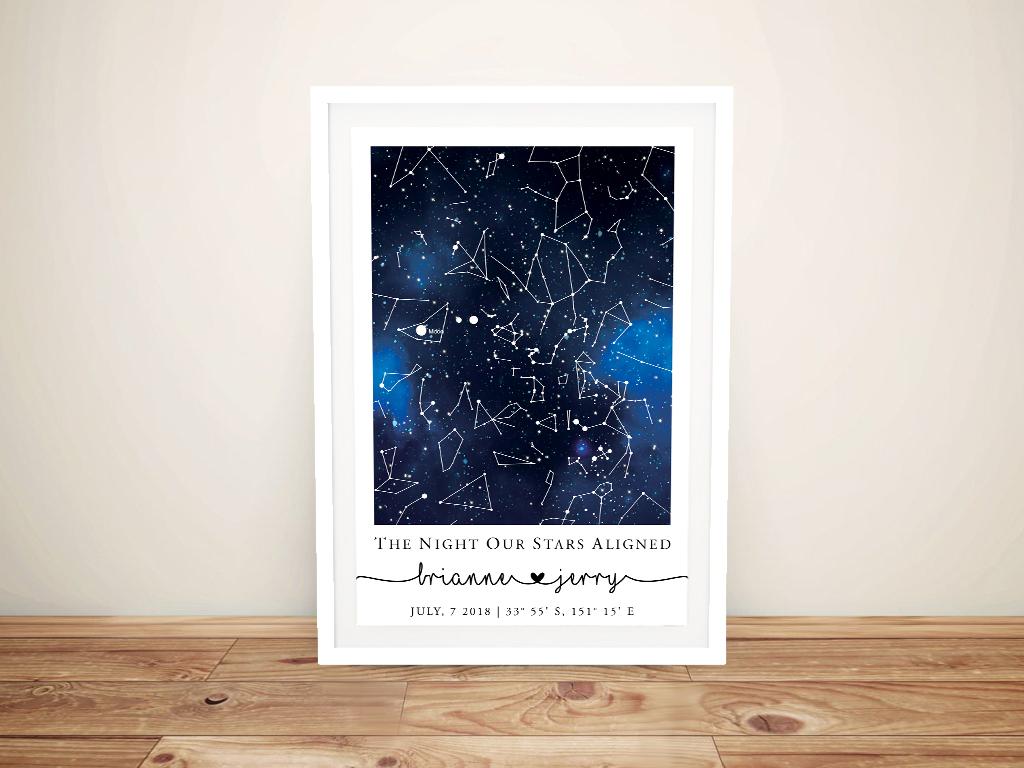 Blue Galaxy Star Map Magical Custom Art