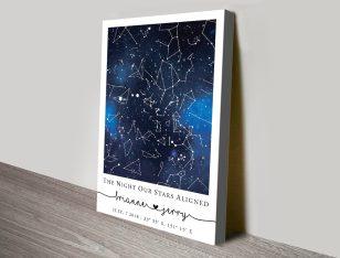 Buy a Blue Galaxy Star Map Custom Print