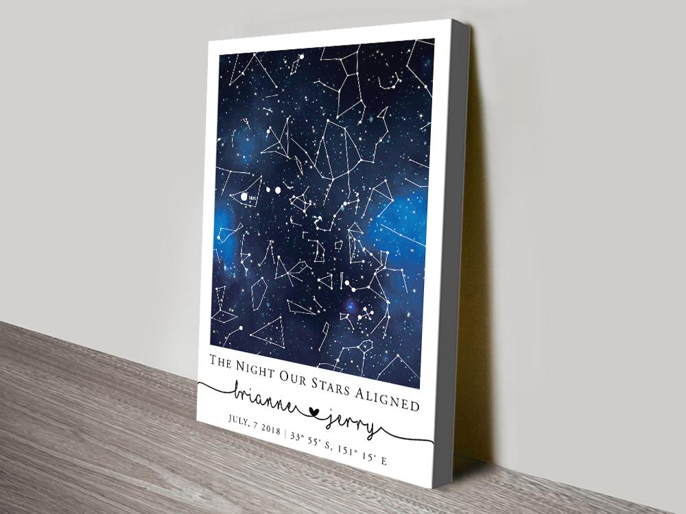 Buy a Blue Galaxy Star Map Custom Print | Blue Galaxy Custom Star Map