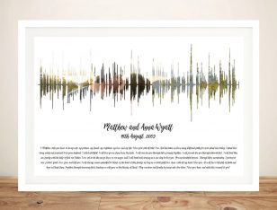 Framed Custom Soundwave Photo Artwork