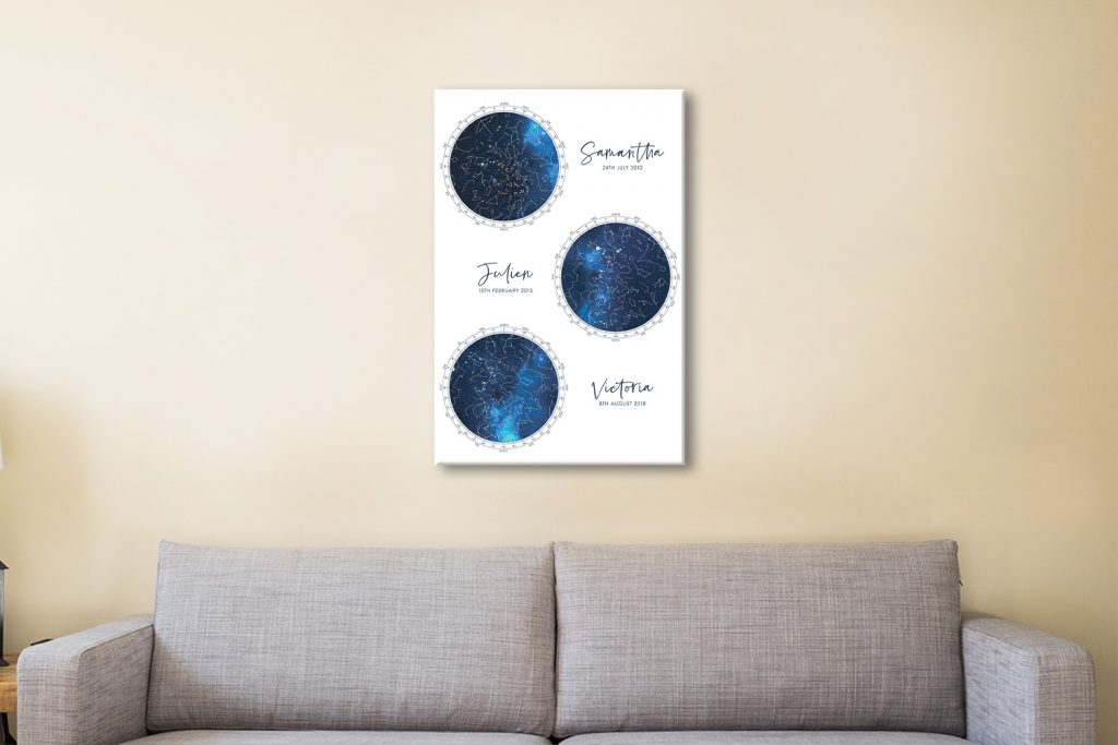 Multiple Star Map Canvas Art for Sale Online