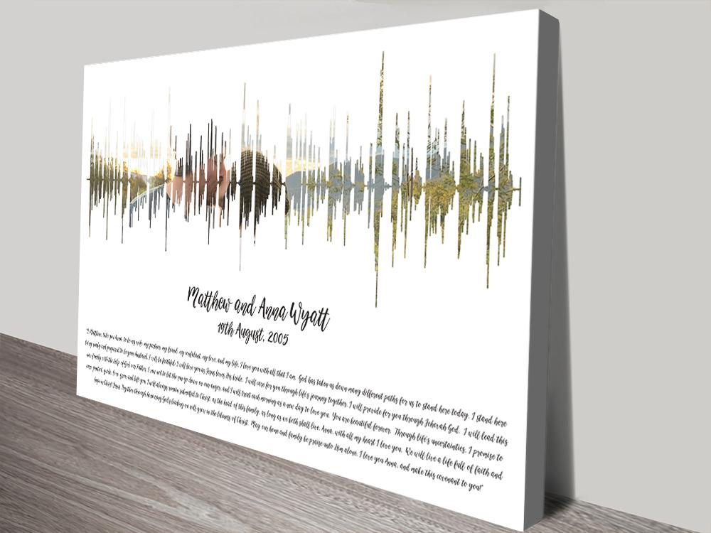 Photo Soundwave Print Wedding Vows Wall Art