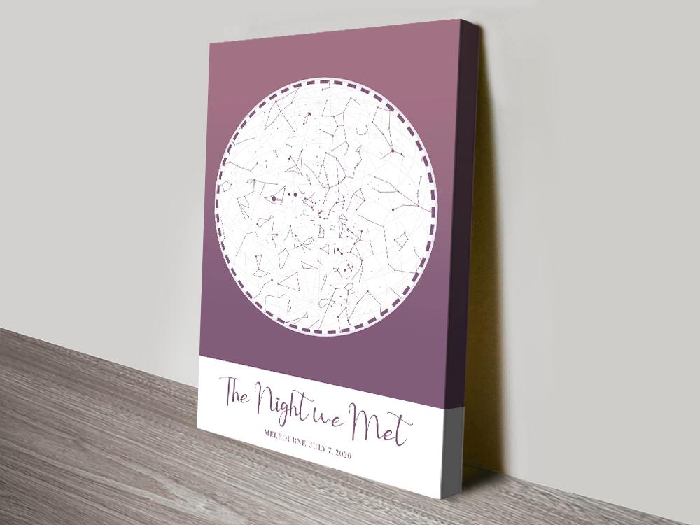 Purple Star Map Valentines Gift Ideas AU