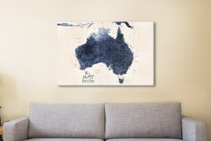 Affordable Custom Detailed Map Wall Art