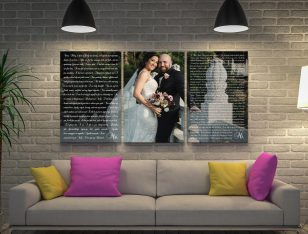 Custom Wedding Vows Overlaid Wall Art