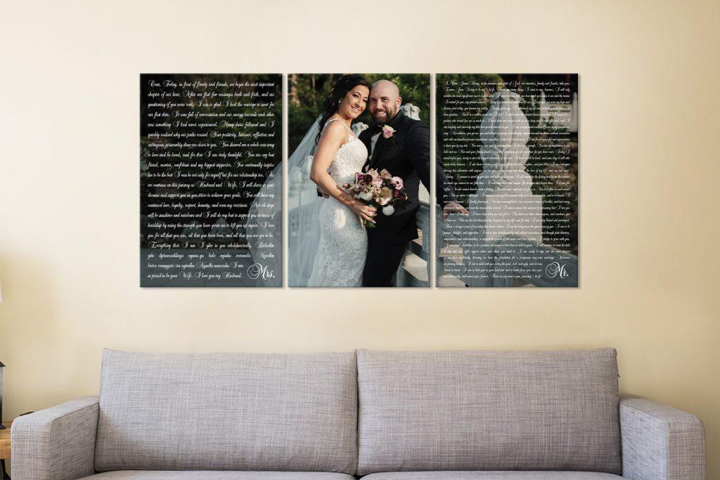 Unique Wedding Vows Wall Art Cheap Online