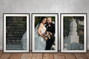 Framed Custom Marriage Vows Canvas Art