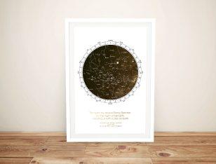 Buy a Custom Bronze Star Chart Canvas Print