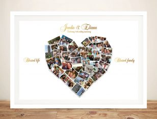 Custom Heart Shaped Photo Art