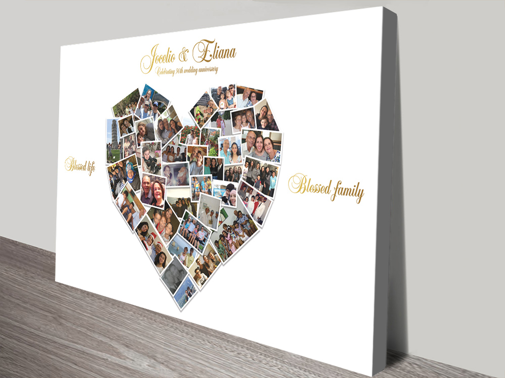 Personalised Heart Shaped Photo Canvas