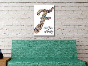 Letter Photo Collage Cheap Custom Art AU