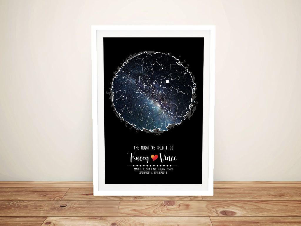 Personalised Scribble Style Star Chart Wall Art | Bespoke Scribble Star Map