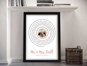 First Dance Adele Song Lyrics Bespoke Artwork